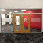 vinyl door graphics wayfinding